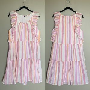 Vero Moda striped flutter sleeve tank dress XL